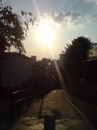 夕陽丘の夕日